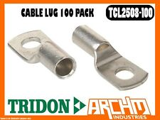 TRIDON TCL2508-100 - CABLE LUG - 100 PACK BOXED CABLE 25mm² (3 B&S) STUD 8mm