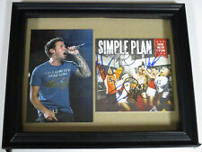 SIMPLE PLAN AUTOGRAPHED SIGNED FRAMED CD COVER 1 WITH SIGNING PICTURE PROOF