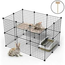 """New listing Portable 29""""Metal Dog Pet Playpen Crate Animal Fence Exercise Cage w/Door 32 Pcs"""