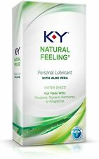 K-Y Natural Feeling Personal Lubricant with Aloe Vera, Water Based 1.69oz