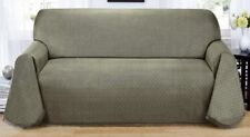 "BLUE---MATRIX  ""NON-SLIP"" THROW COUCH SOFA COVER-ALSO COMES IN BROWN & GREEN"