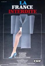 FRANCE INTERDITE / FRENCH PROHIBITION - NUDITY / LEG / HIGH HEEL - MOVIE POSTER