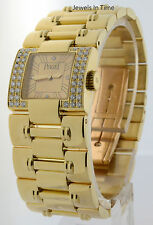 Piaget Dancer 18k Yellow Gold & Diamond Womens Quartz Watch 50011