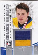 10-11 ITG Johan Hedberg /20 Jersey Between The Pipes Golden Goalies SILVER