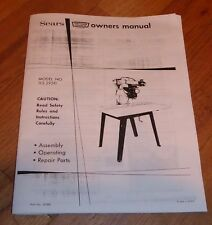 SEARS CRAFTSMAN 12 INCH RADIAL ARM SAW OWNERS MANUAL 113.29511 29511