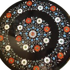 """22"""" Marble Coffee Table Top Marquetry Pietra Dura Handmade Home Furniture"""