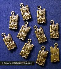 23mm Bronze CAT waving for dinner charms plated 10 beads for beading pcs cfp077