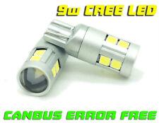 9W 12/24v LED Canbus Senza Errori 501 W5W 504 Sidelight Lampadine Parcheggio Xenon Bianche