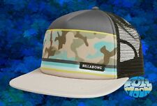 New Billabong Spinner Blue Camo Trucker Snapback Cap Hat