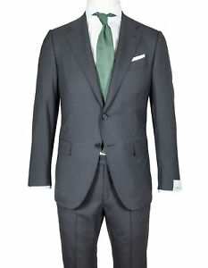 Caruso Suit IN Anthracite-Grey From Super 150'S Wool RegEUR1690