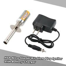 HSP Nitro Starter Kit Glow Plug Igniter with Battery Charger for HSP RC Car R1L8