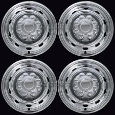 "4 CHROME Dodge Ram 17"" 8 Lug Wheel Skins Hub Caps Rim Simulators Center Covers"