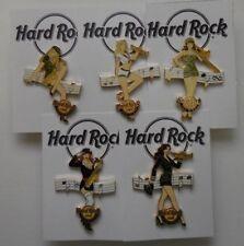 Hard Rock Cafe Militär Pin Up Mädchen Komplett Set Mit 5 Pinnen San Diego