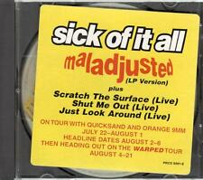 Sick Of It All, Maladjusted; 4 Trk Pr CD