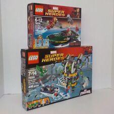 Lego 76006 IRON MAN EXTREMIS SEA PORT BATTLE+76059 SPIDER-MAN DOC OCK TRAP NIB