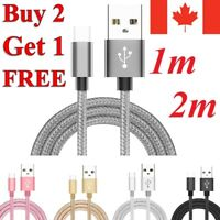 Braided Micro USB Charger Charging Cable for Samsung S7 / Edge S5 6 J3 LG G4 PS4