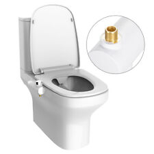 Toilet Bidet Non-Electric Ultra thin With Adjustable Water Pressure Dual Nozzle
