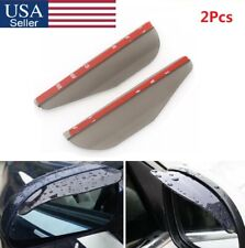 2Pcs/Set Car Rearview Mirror Rain Water Rainproof Eyebrow Cover Side Shield US