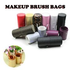 Portable Leather Cosmetic Case Storage Makeup Bags Organizer Brush Holder Cups
