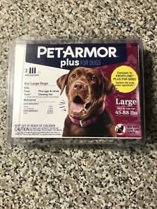 PET ARMOR PLUS for dogs 45-88 Lbs . Flea medication .  3 Applications .