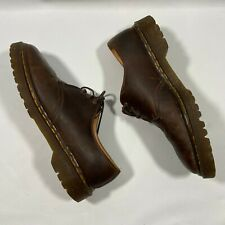 Vintage Dr. Martens 1561 Oxfords Made In England Brown Shoes Size 9
