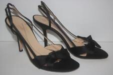 Kate Spade Women's Shoes Mattie Satin Bow Slingback Black Size 8 FREE SHIPPING!