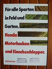 Honda Motorhacken + Einachsschlepper - Prospekt Brochure 90er  (0489