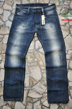Diesel Distressed Classic Fit, Straight Jeans for Men