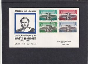 Tristan da Cunha 1967 Visit of 1st Duke of Edinburgh also Prince Philip FDC