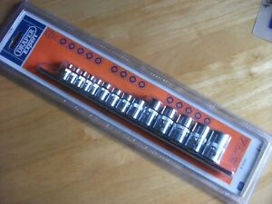 Set of Draper TX-Star Sockets 14 Pieces with 3 Sizes of  Sq Drive Socket BD14TX