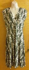 NEW Max & Cleo cap sleeve empire band dress gray matte jersey Med MSRP $98 NWT