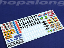 Scalextric/Slot Car 1/32 Scale Waterslide Decals. ws006w