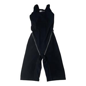 Arena Womens Powerskin St 2.0 Full Body Short Leg Swimsuit Hi-Tech Black Size 32
