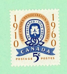 Canada 1 stamps, SC 389,  50th Ann of Girl Guides, 1960,  MNH