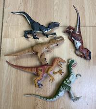 Jurassic Park World Action Figure Joblot Velociraptor T Rex Dilophosaurus