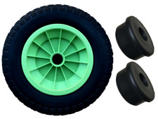 "3.50/4.00-8 LIME GREEN 14"" PUNCTURE PROOF LAUNCHING TROLLEY WHEEL 1"" BORE"