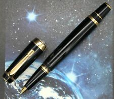 VINTAGE MONTBLANC BOHEME ROLLERBALL PEN GOLD LINE IN BLACK RESIN WITHOUT STONE