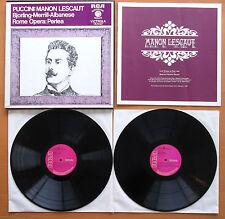 RCA VIC 6027 Puccini Manon Lescaut Bjorling Merrill Perlea Rome Opera 2xLP NM
