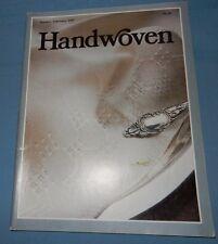 January February 1987 Handwoven Weaving Magazine Handwoven Velvet Paisley Belts