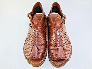 HUARACHE PIHUAMO VINTAGE OILD Correas Finas ''ACME'' Mexican sandals  huaraches