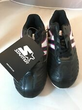 Starter Youth Girls Size 2 Pink And Black Soccer Cleats NWT