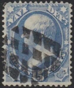 O42 (1873)  Official Mail, Navy - Used
