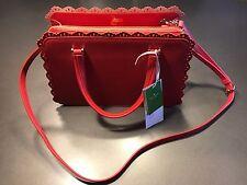 Kate Spade New York Fordham Court Lise Leather Lace Edge Handbag (hot pink)