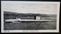 HMS SENESCHAL   Royal Navy Submarine  Vintage Photo Card  VGC
