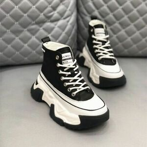 Women's high-top casual shoes thick-soled motorcycle shoes sports shoes