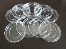 10 Direct Fit COIN CAPSULES, 27mm for 1/2 oz GOLD or 1/2 oz PLATINUM Coins