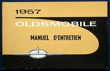 Owner's manual * manual de instrucciones * manuel 1957 Oldsmobile (F)