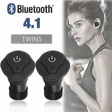 Mini Wireless Bluetooth Earbuds w/Mic True Bass Twins Stereo In-Ear Earphones