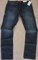 Guess Ultra Slim Straight Leg Jeans Men Size 36 X 34 Classic Distressed Wash NEW