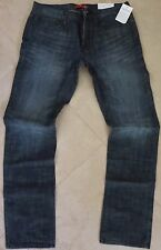 Guess Slim Straight Leg Jeans Men's Size 34 X 32 Ultra Slim Dark Distressed Wash